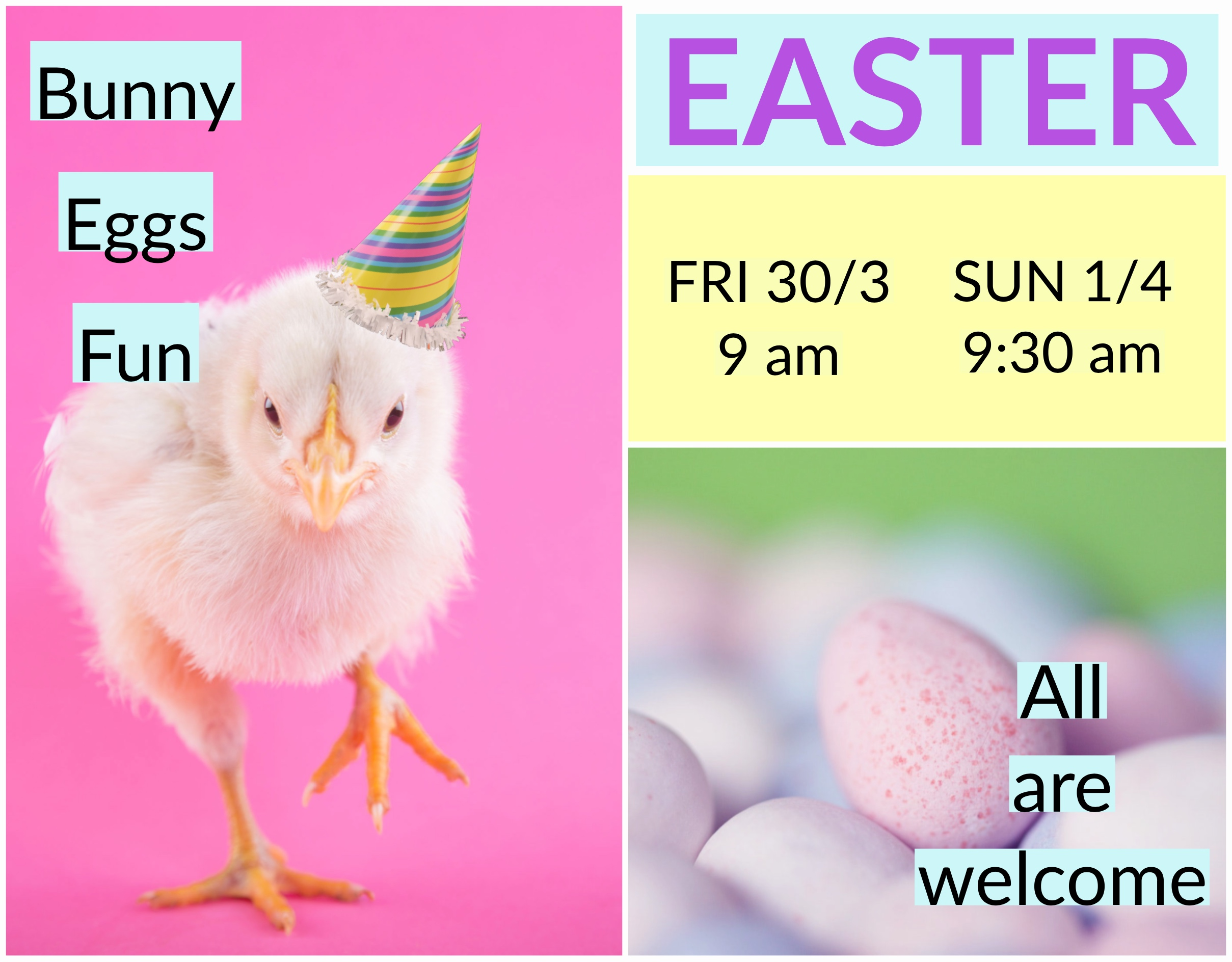 Easter Newspaper ad Copy 2