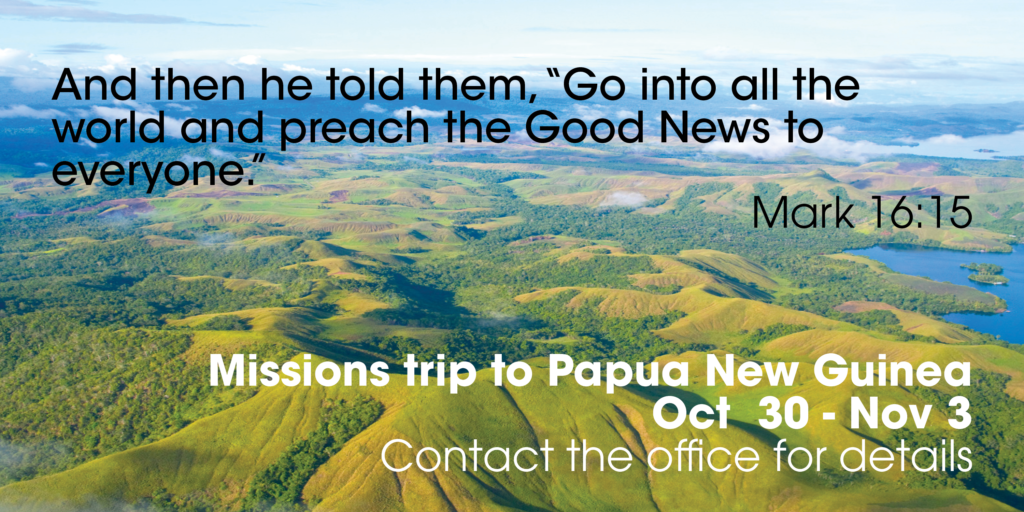 PNG missions trip